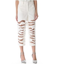 Alexander Wang Zebra Embroidered Crop Jeans